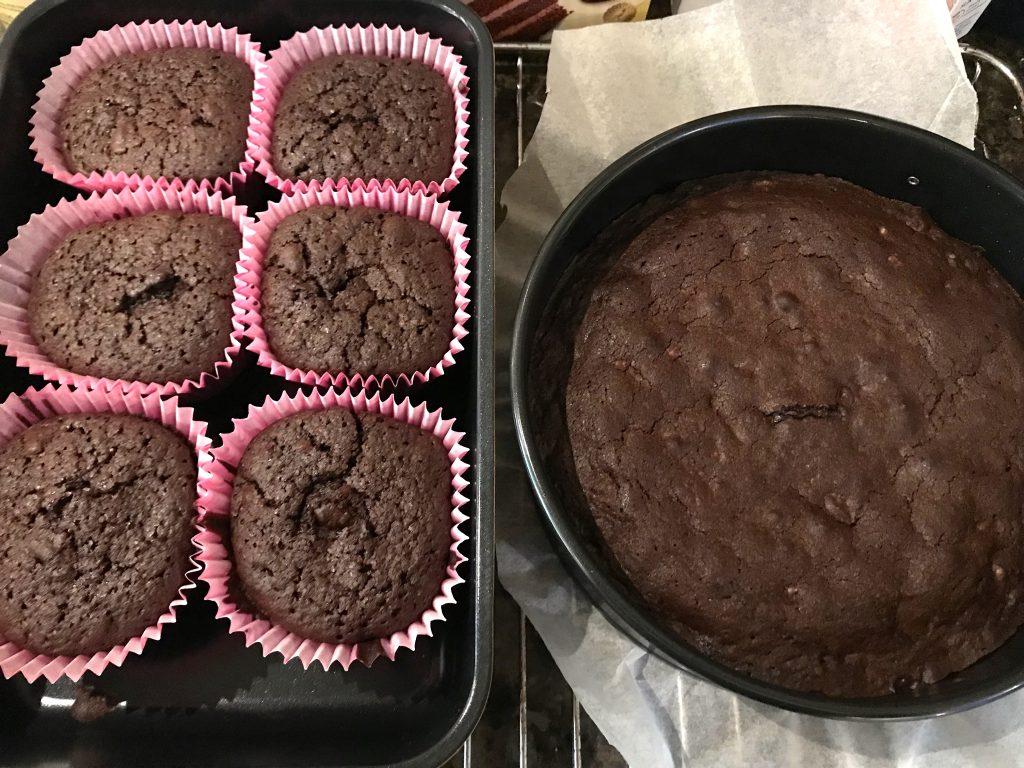 Pernilles brownies med valnøtter