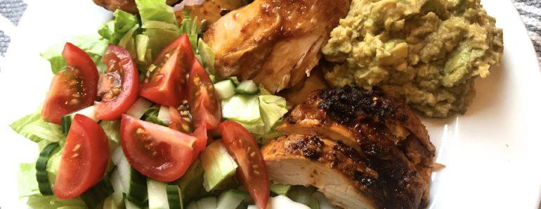 Helstekt kylling med tacopaste